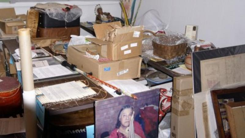 photo of room cluttered with artifacts