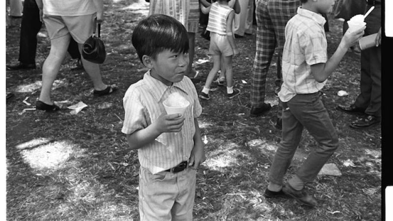 All generations enjoyed snowcones at the first Lotus Festival in Los Angeles.