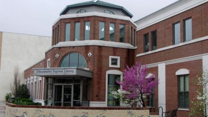 photograph of exterior of a library