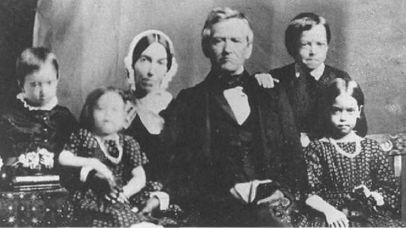David Lyman, Sarah Lyman and children, Hilo, c. 1853.