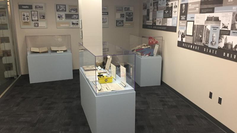 Exhibit featuring photographs preserved by the NEH grant