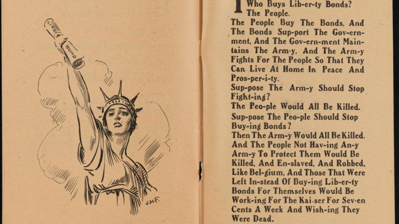 Liberty Loan Primer, 1918, in the Collection on World War I and World War II.