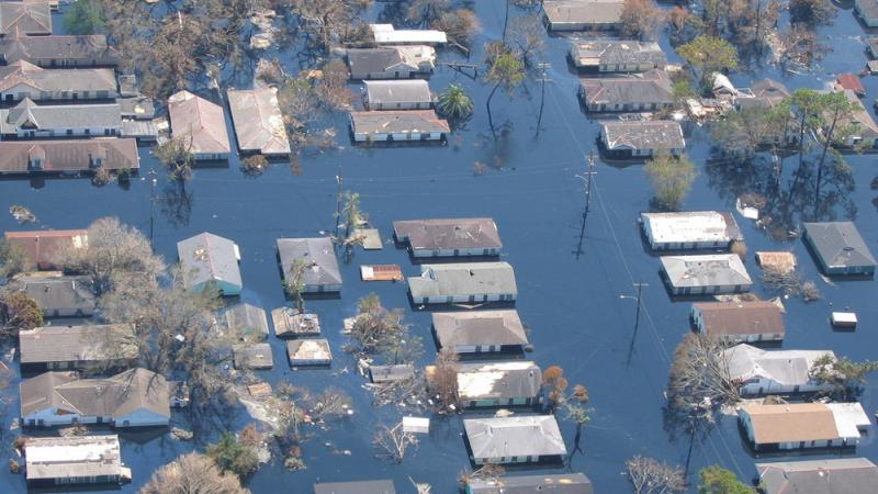 Views of inundated areas in New Orleans as a result of Hurricane Katrina