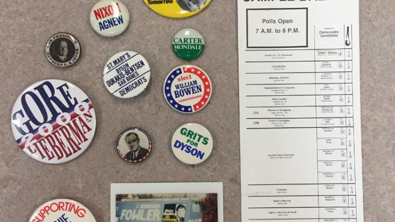 photo of election pins