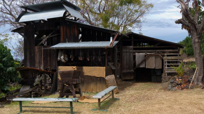 Historic Coffee Mill at the Kona Coffee Living History Farm.