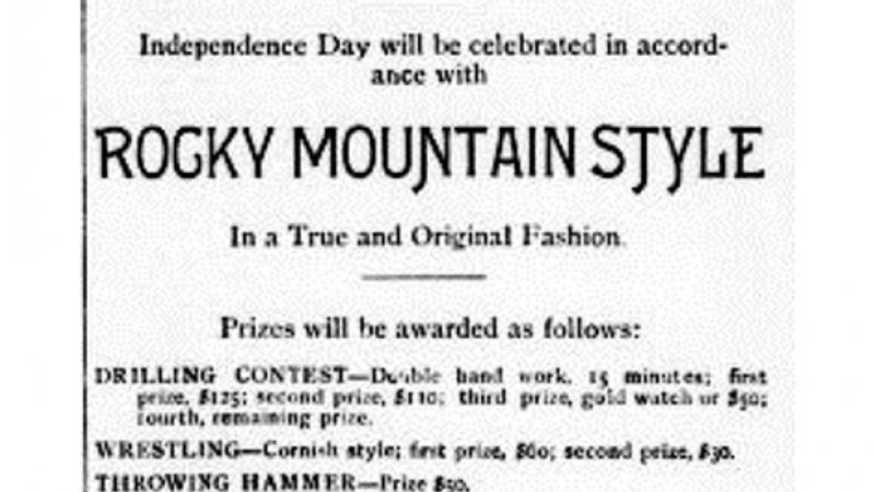 Advertisement for Fourth of July Celebration at Granite, Montana.