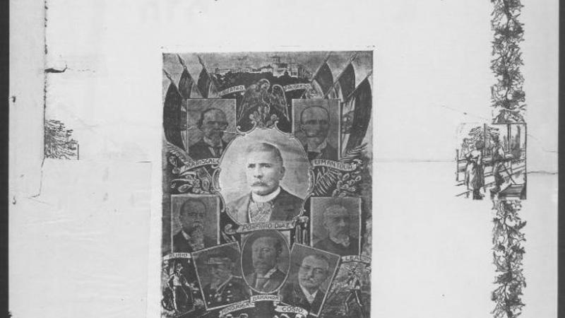 General Porfirio Diaz, President of Mexico, and His Cabinet.