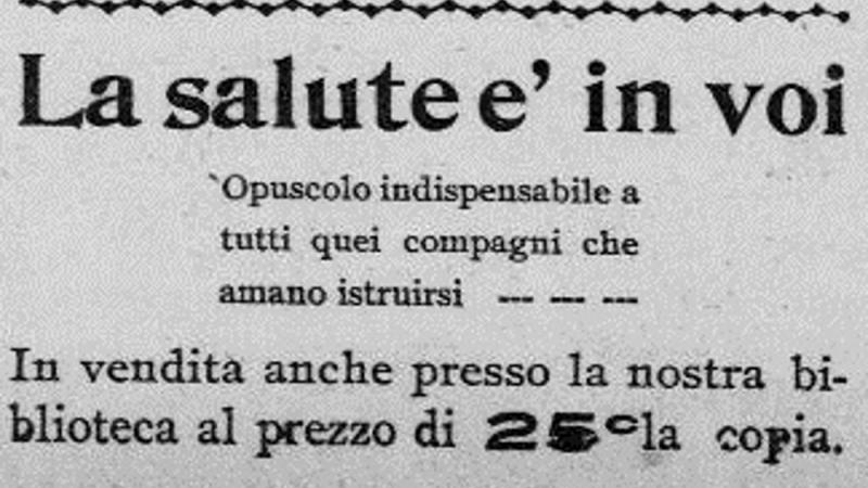 "Ad for ""La Salute e' in voi,"" (""The Health is in You"")"