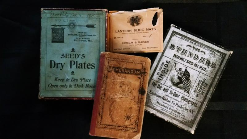 Marcus E. Jones Collection: Photography supplies and field notebook