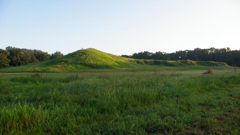 Mound A, the largest mound, looking north