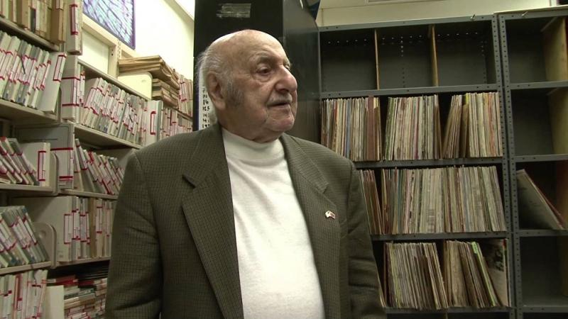 Leo Sarkisian in the Voice of America library, 2012