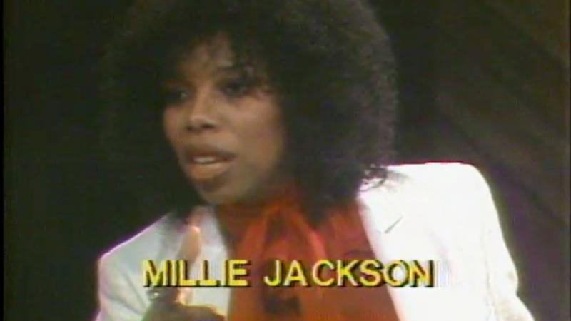 Singer-songwriter Millie Jackson during an ABJ broadcast from 1978.