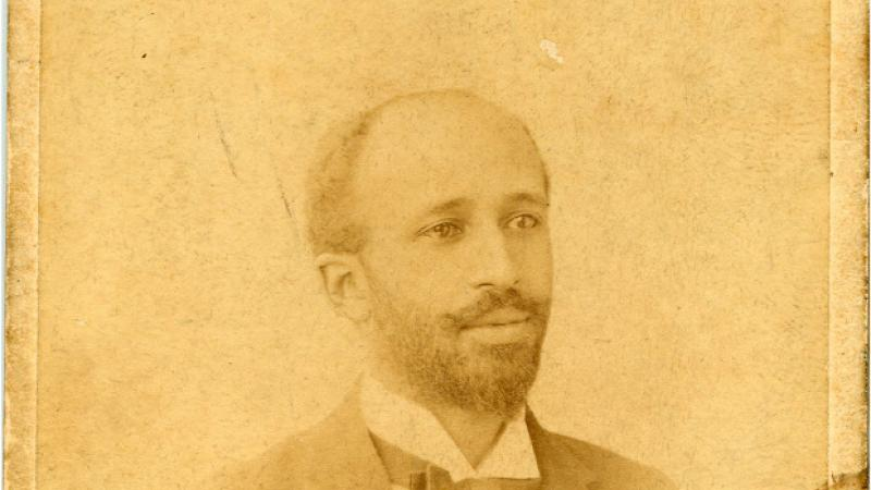 W. E. B. Du Bois, identification card for Exposition Universelle, 1900.