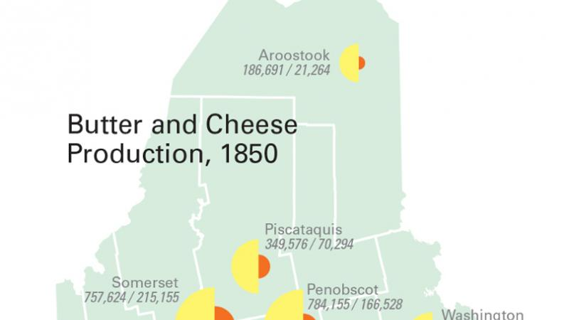 Butter and Cheese production, 1850