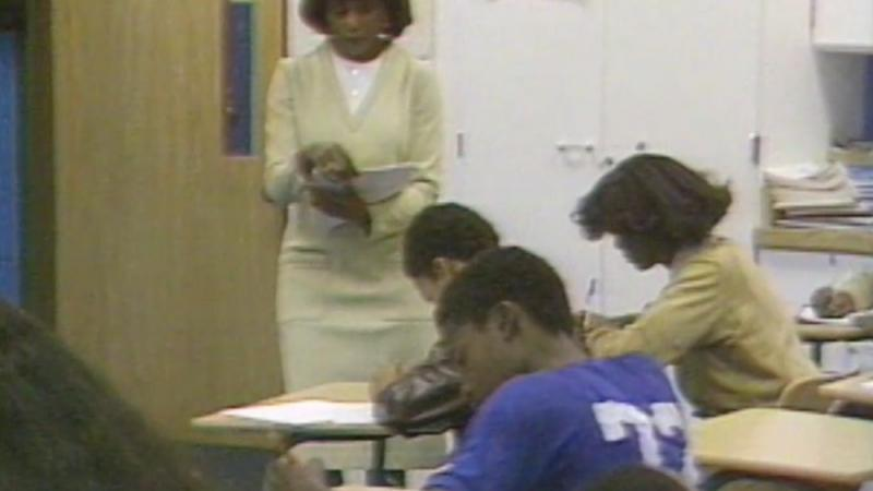 A Detroit classroom depicted in an ABJ segment on the state of public education.