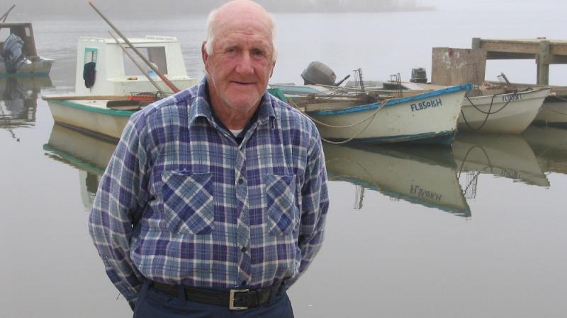 "Oysterman A.L. ""Unk"" Quick of Eastpoint, Florida."