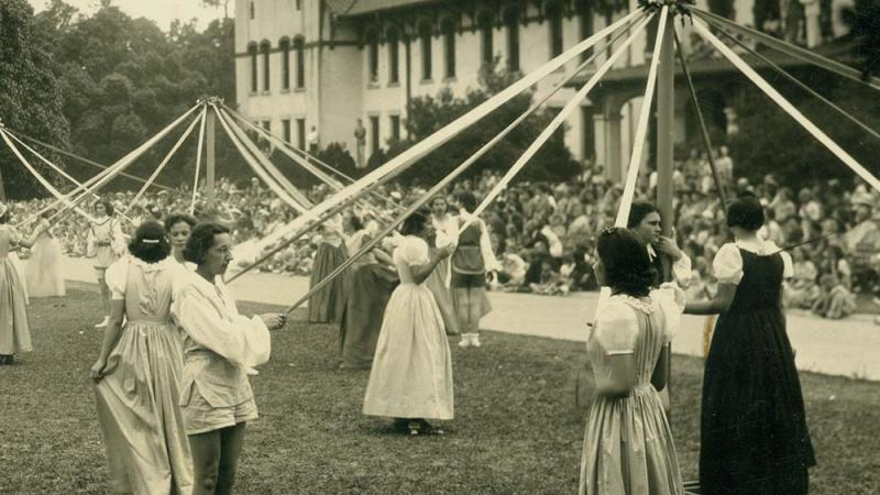 """Windins of the May Poles"" May Day, 1939."