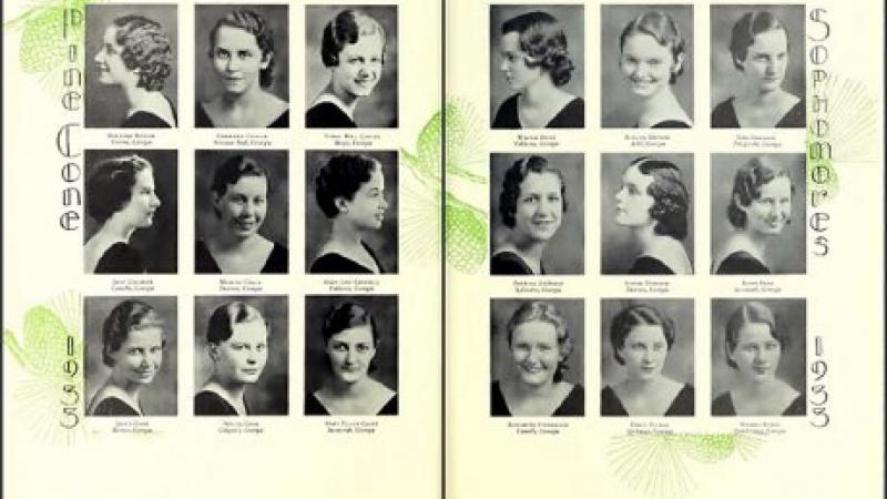 Georgia State Woman's College Yearbook, The Pinecone, 1933.