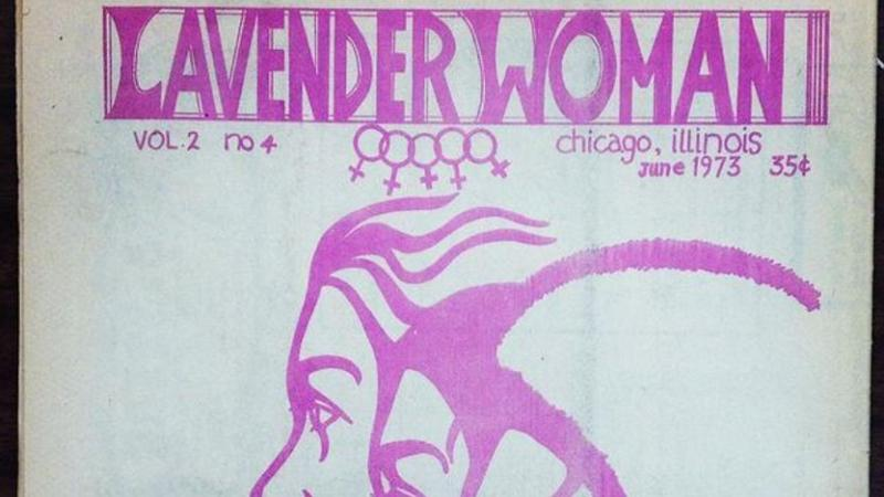 "Cover of the ""Lavender Woman"" magazine, published in Chicago, between 1971-1976."