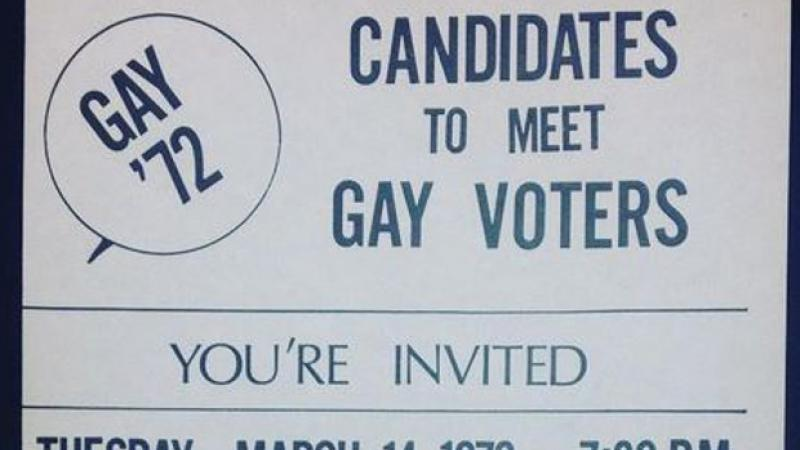 Poster for a voters forum by the Chicago Gay Alliance. 1972.