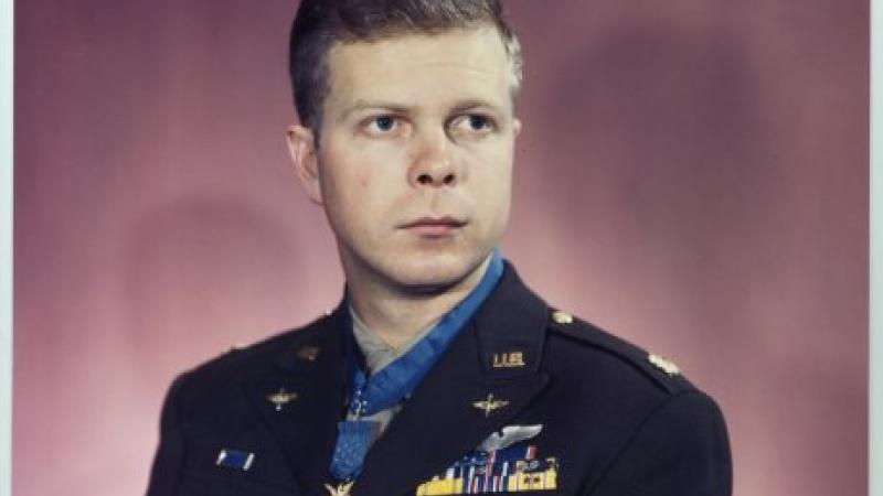 Formal Portrait of Richard Bong, with Medal of Honor.