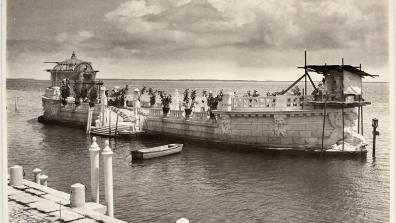 View of the Barge under construction