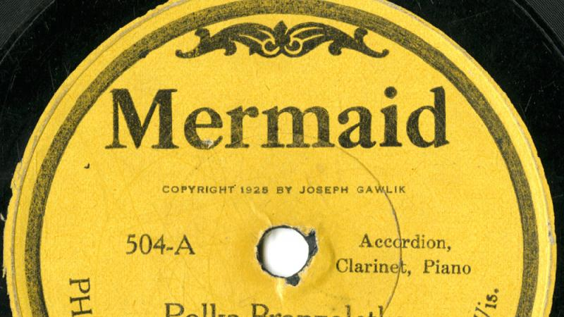 Label from a 78 recorded by a Polish trio in Milwaukee in the 1920s.