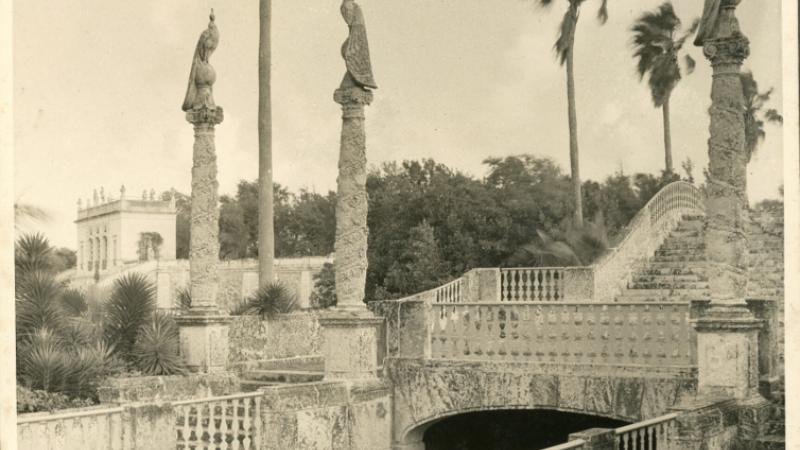 The Peacock Bridge with sculptural work by Gaston Lachaise, photograph, 1934