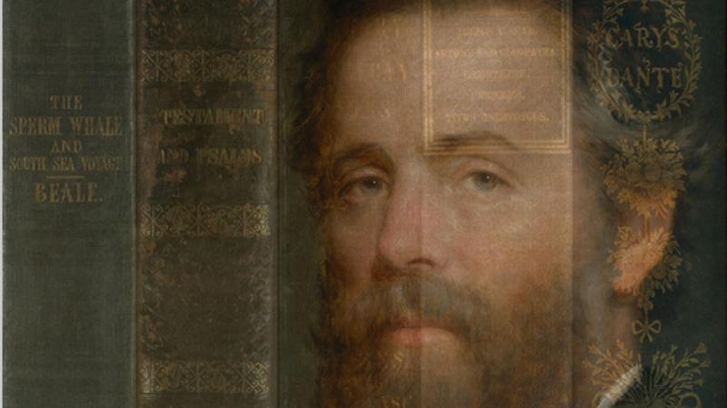 Portrait of Herman Melville on a book cover