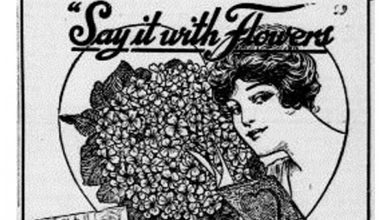 """Say It With Flowers.""  The Evening Missourian.  (Columbia, Missouri)"
