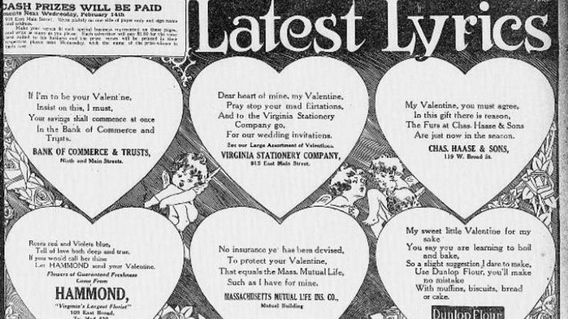 """Latest Lyrics.""  The Times Dispatch.  (Richmond, Virginia) February 11, 1912."