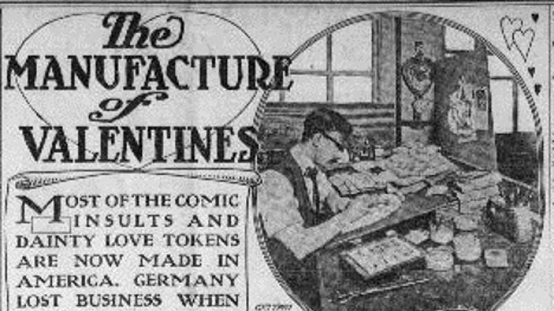 """The Manufacture of Valentines.""  The Kansas City Sun.  (Kansas City, Missouri)"