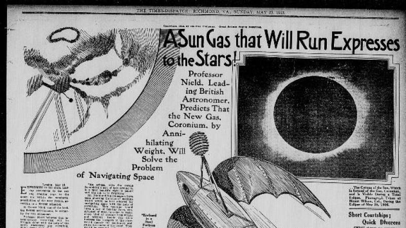 """A Sun Gas That Will Run Expresses to the Stars!"" The Times Dispatch (Richmond, VA)"