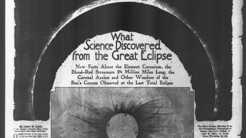 """What Science Discovered from the Great Eclipse.""  The Washington Times (Washington, DC)"