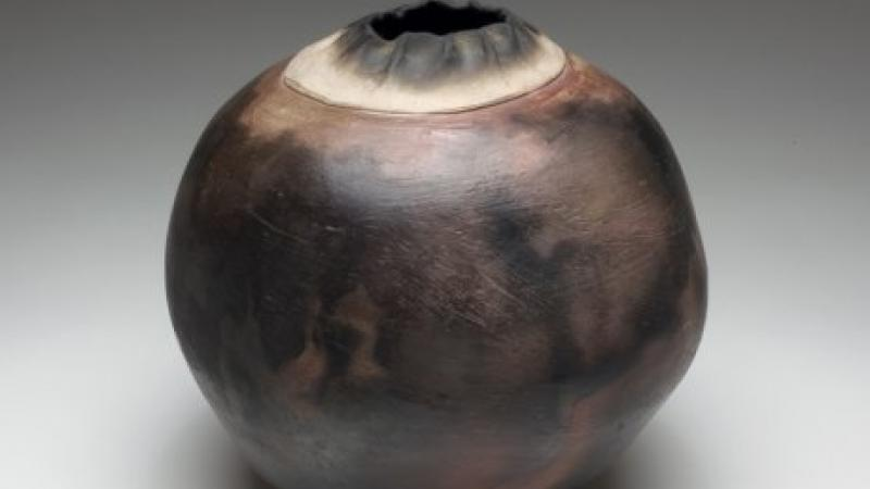 M.C. Richards, Untitled Raku Pot, 1979