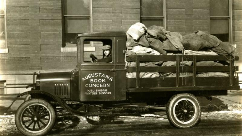 Augustana Book Concern truck, late 1920s