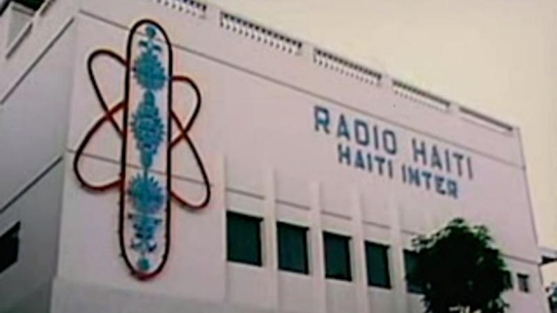 The exterior of the Radio Haiti building in the 1980s.