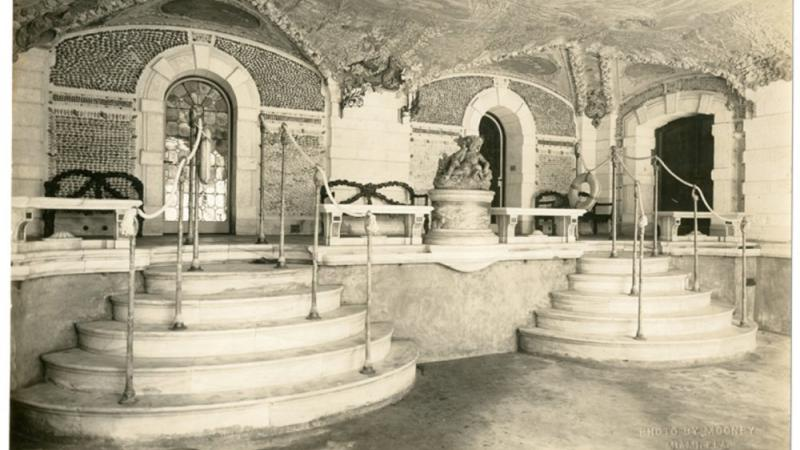 Swimming Pool Grotto, photograph, 1916