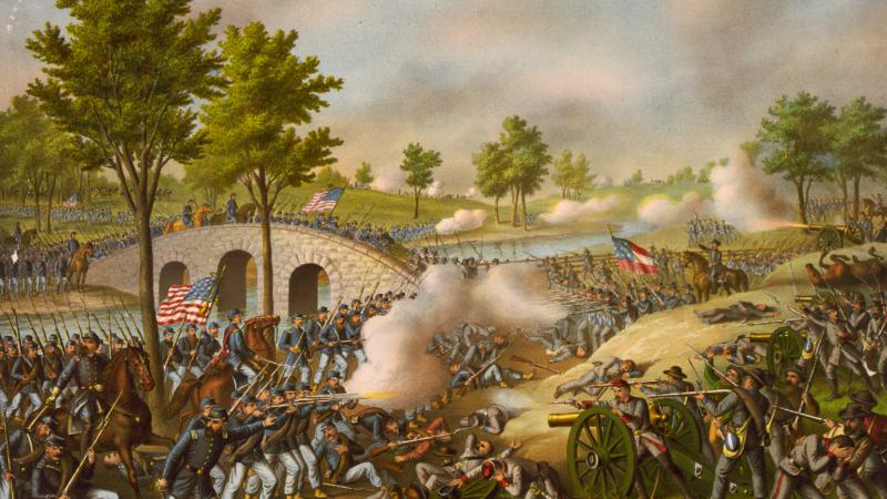 Illustration of Battle of Antietam, Burnside's Bridge