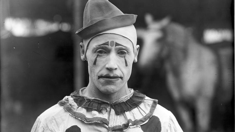 Clown portrait, circa 1902