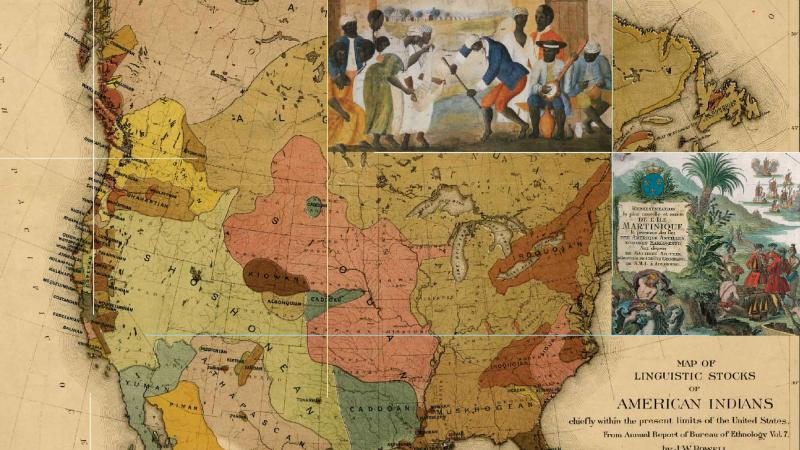 Map collage by John Wesley Powell
