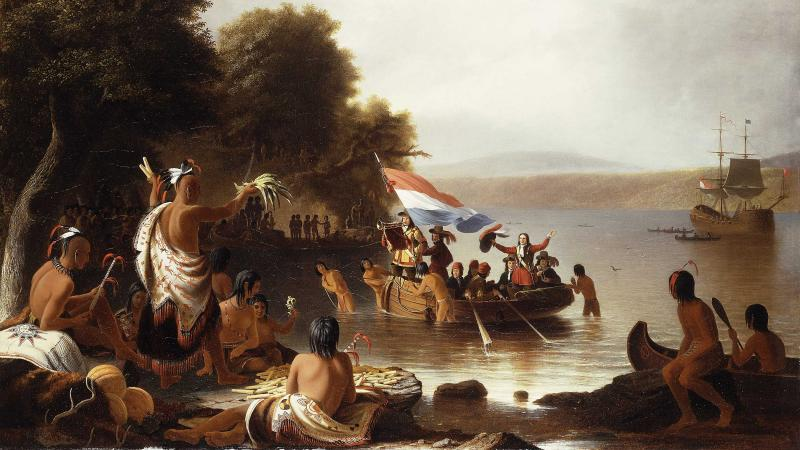 Landing of Henry Hudson, 1608 at Verplanck Point, Near Peekskill