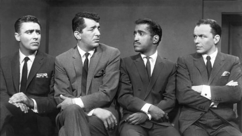 Sammy Davis, Jr. with Peter Lawford, Dean Martin and Frank Sinatra in the 1960 film Ocean's 11