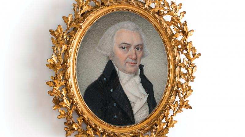 Portrait of Gouverneur Morris done by Pierre Henri in 1798