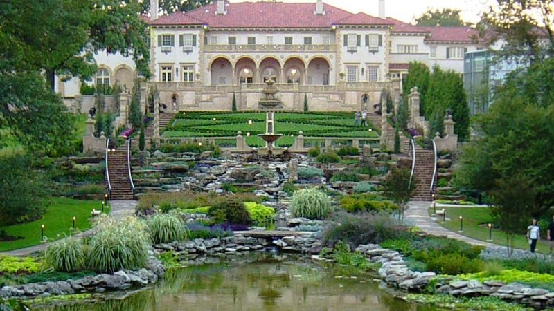 The Philbrook Museum of Art and gardens.