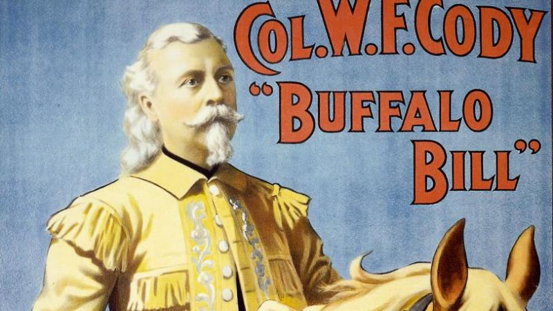 Col. Wm. F Cody, Buffalo Bill, poster, 1908