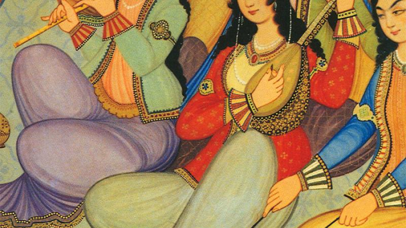 Painting from Isfahan, Iran.