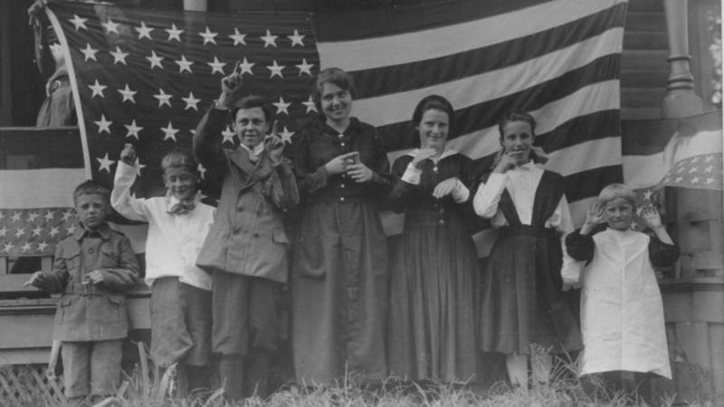 Students from the St. Rita's School for the Deaf, 1918