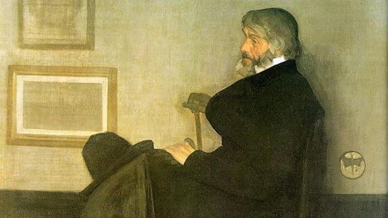Arrangement in Grey and Black, No.2: Portrait of Thomas Carlyle, Whistler