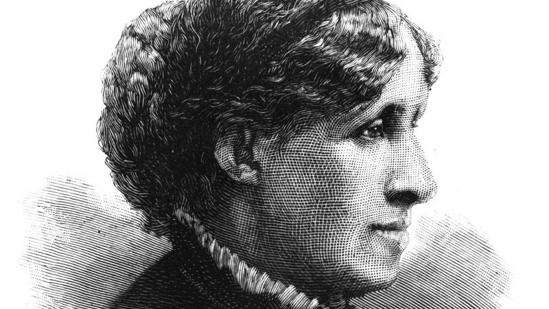 Louisa May Alcott, engraving from Harper's Weekly.